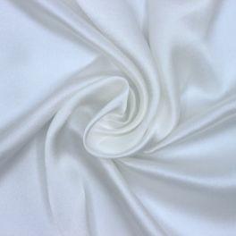Satin de soie blanc cassé