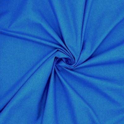Tissu cretonne uni bleu de France