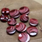 Vintage resin button - burgondy