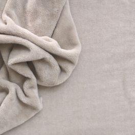 Tissu éponge coton et bambou couleur lin