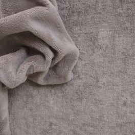 Terry fabric in cotton and bamboo - taupe