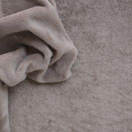 Tissu éponge coton et bambou taupe