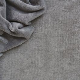 Terry fabric in cotton and bamboo - grey