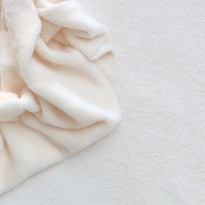 Terry fabric in cotton and bamboo - ivory