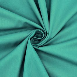 Sheeting fabric in cotton - plain turquoise