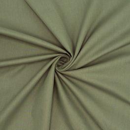 Toile à drap en coton uni kaki