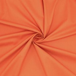 Sheeting fabric in cotton - plain orange