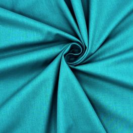 Sheeting fabric in cotton - plain peacock blue