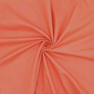 Sheeting fabric in cotton - plain coral