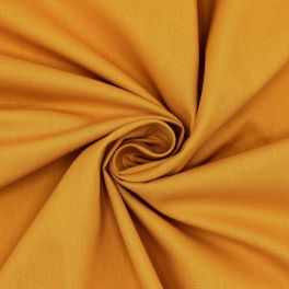 Sheeting fabric in cotton - plain mustard yellow