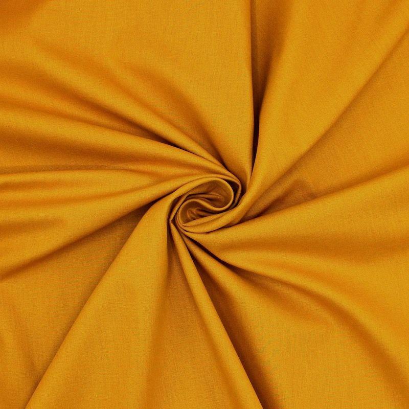 Toile à drap en coton uni moutarde