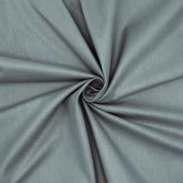 Toile à drap en coton uni gris bleu