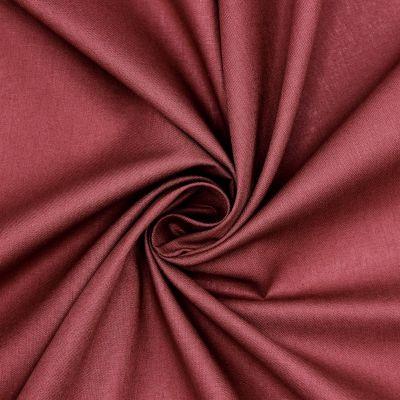 Sheeting fabric in cotton - plain burgondy