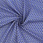 Cotton with prism of scales pattern - blue