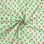 Cotton with pattern of flamingo