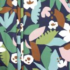 Upholstery fabric with foliage print