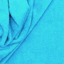Tissu éponge hydrophile 100% coton bleu turquoise