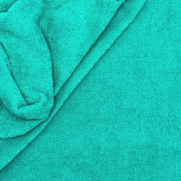 Celadon blue terry fabric