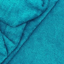 Blue terry fabric