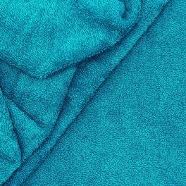 Tissu éponge hydrophile 100% coton bleu canard