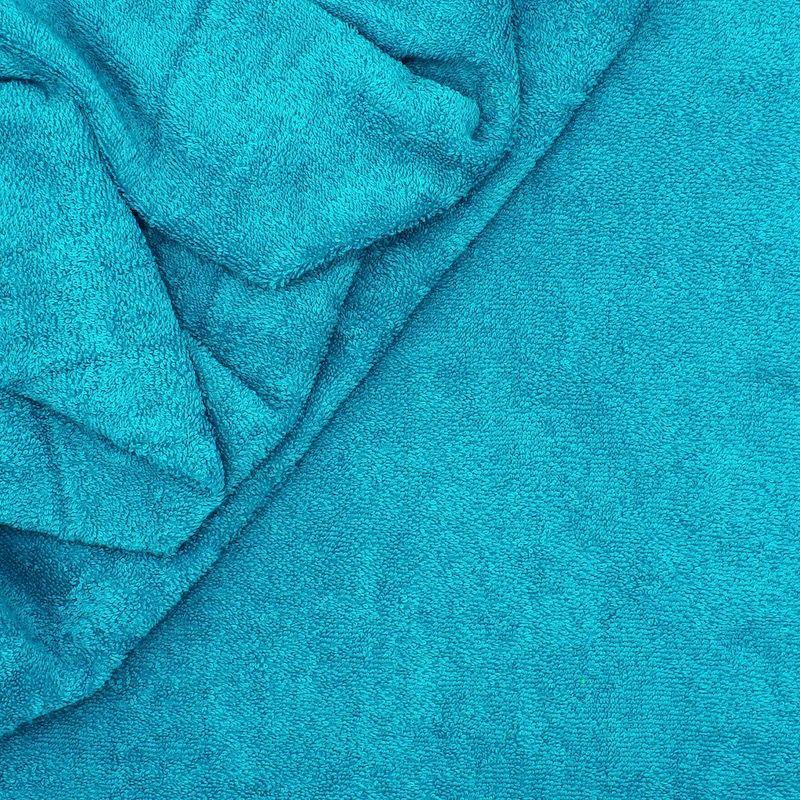 Blue terry fabric