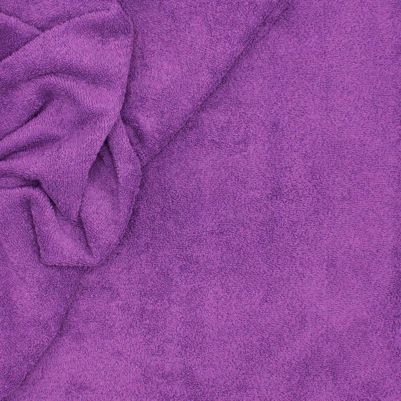 Tissu éponge hydrophile 100% coton violet