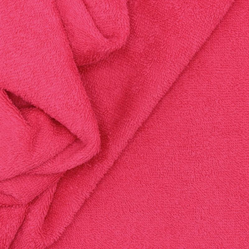 Fuschia terry fabric