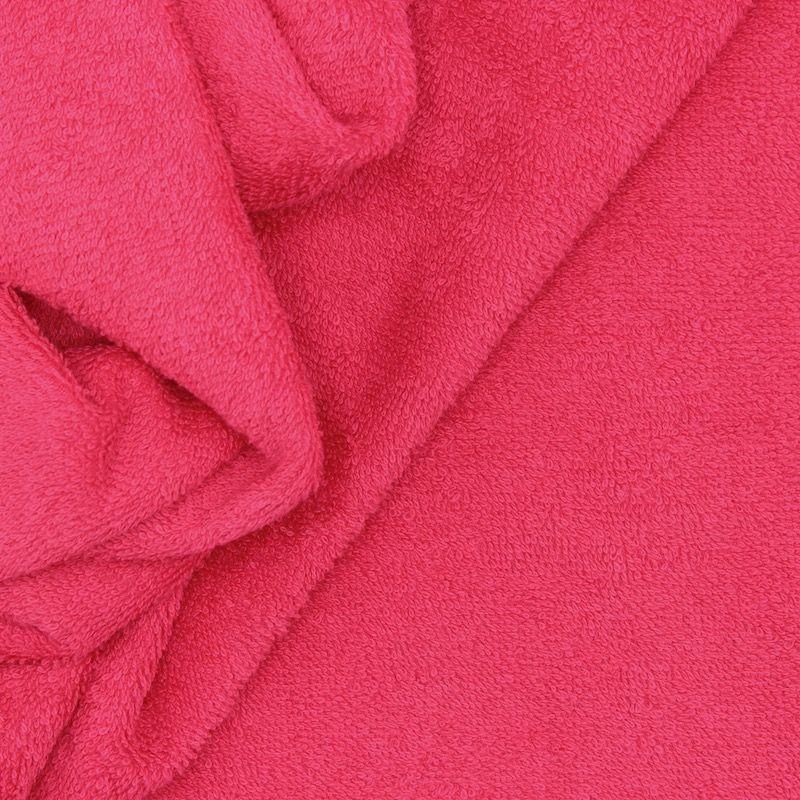 Tissu éponge hydrophile 100% coton fuschia