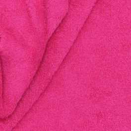 Raspberry pink terry fabric