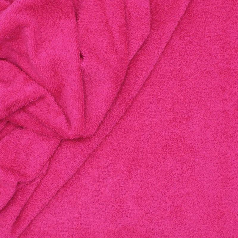 Tissu éponge hydrophile 100% coton framboise