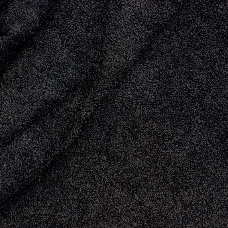 Tissu éponge hydrophile 100% coton noir