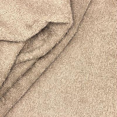 Linen beige terry fabric