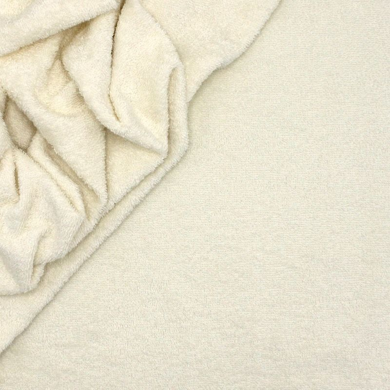 Tissu éponge hydrophile 100% coton ivoire