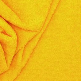 Yellow terry fabric
