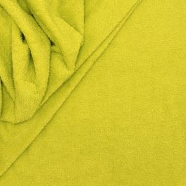 Tissu éponge hydrophile 100% coton vert anis