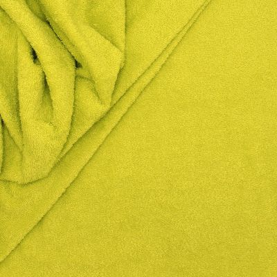 Anis green terry fabric