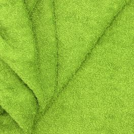 Fresh green terry fabric