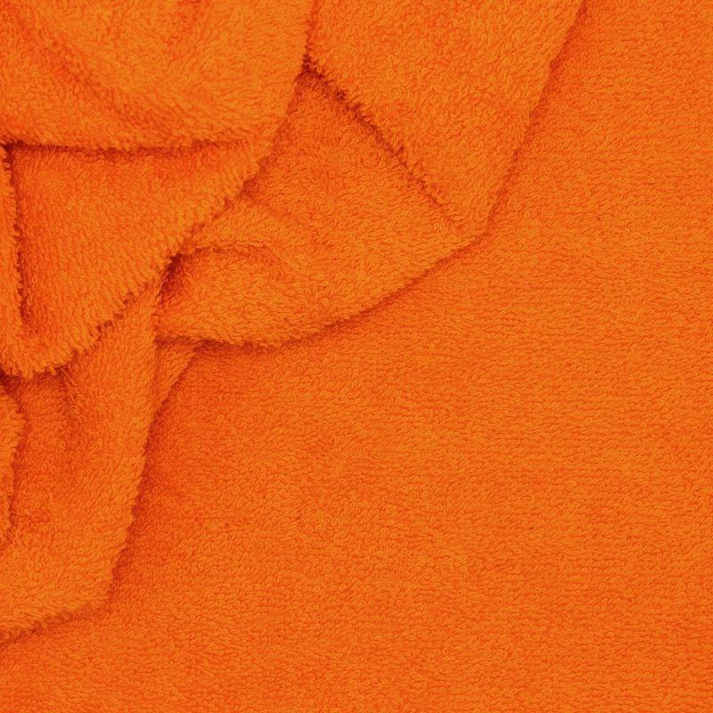 Tissu éponge hydrophile 100% coton orange