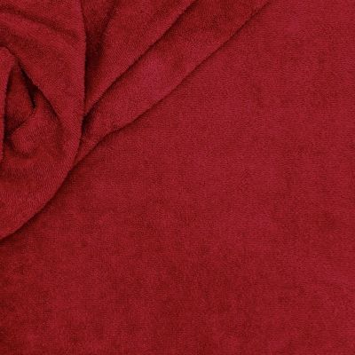 Bordeaux terry fabric