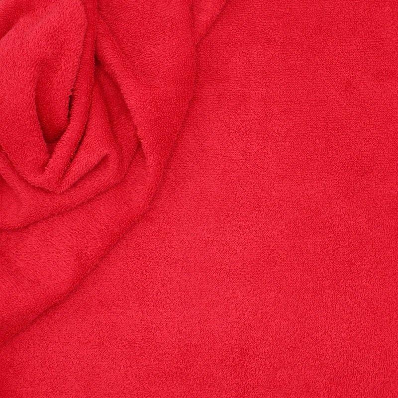 Tissu éponge hydrophile 100% coton rouge