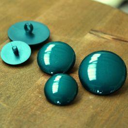 Resin button - emerald