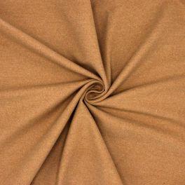 Tissu en coton gratté camel