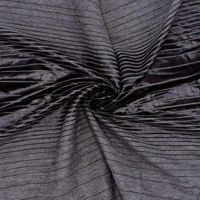 Gestreepte stof - zwart en grijs