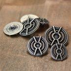 Metalen knoop - zilver