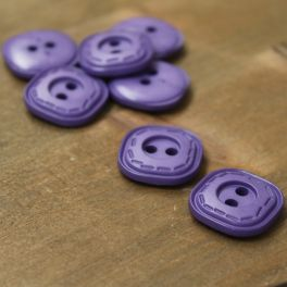 Rectangle resin button - purple
