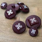 fantasy resin button - garnet