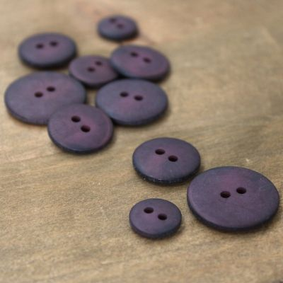 Vintage resin button - eggplant colored
