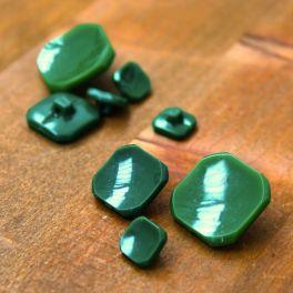 Rectangle resin button - grass green