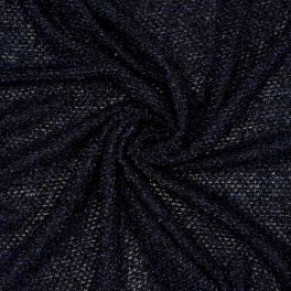 Mesh fabric with fantasy thread - burgondy