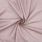 Coton imprimé rose et gris